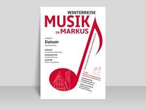 Plakat Musik im Markus