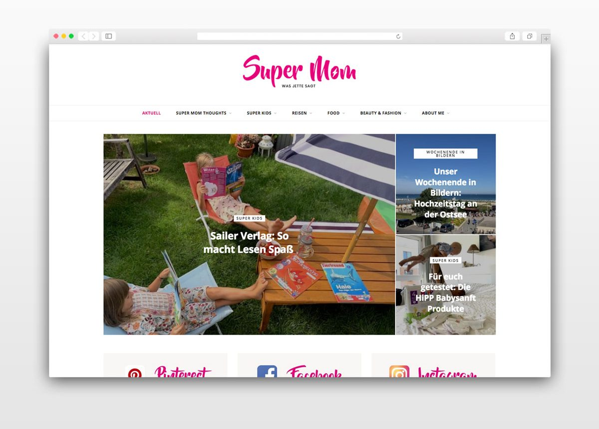 Blog Beispiel Super Mom