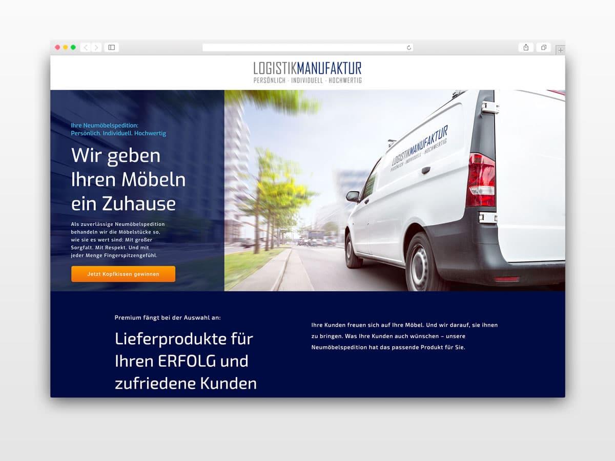 Webseite-Logistik